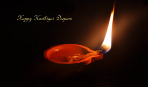 The lamp of Karthigai Deepam is believed to be having the flame of Lord Shiva