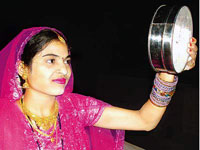 Karwa Chauth is  celebrated with complete faith and devotion by women