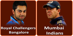 Royal Challengers Bangalore vs Mumbai Indians