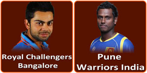 Royal Challengers Bangalore vs Pune Warriors