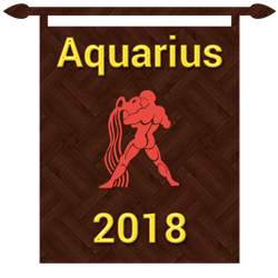 Symbol of Aquarius zodiac sign