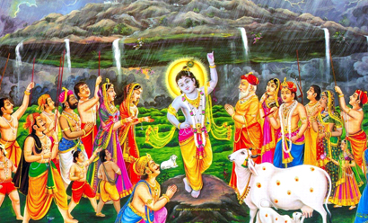 On the day of Govardhan Puja, Govardhan hill is worshiped