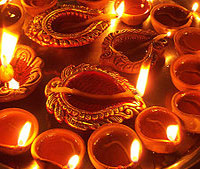 Diwali festival is celebrated by lighting earthen lamps.