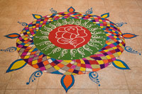 Rangoli designs and patterns made on Diwali festival
