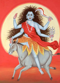 Devi Kalaratri or Kalratri is Worshiped on the seventh day of Navratri festival
