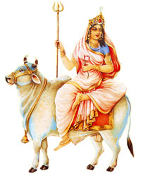 Devi Maha Gauri or MahaGauri is Worshiped on the eighth day of Navratri festival