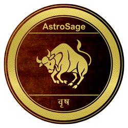 Symbol of Vrishabha zodiac sign