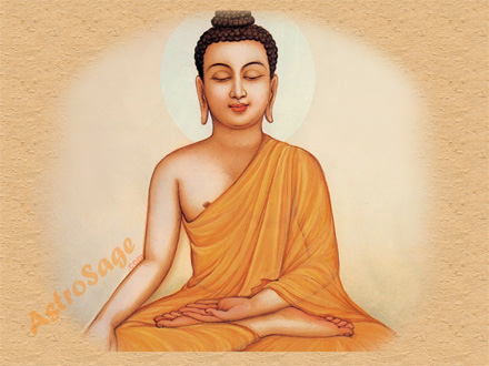 Wallpaper of buddha god
