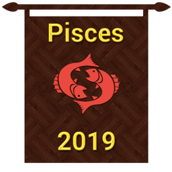 Symbol of Pisces zodiac sign