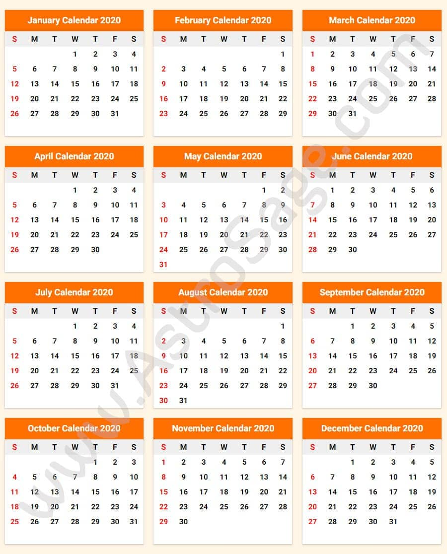 Astros Schedule 2020 Printable.Printable Calendar 2020 With Holidays Download Free