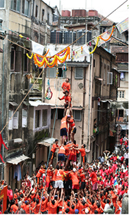 Dahi Handi will be performed during Janmashtami 2017 in Mumbai