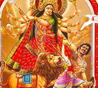 Goddess Durga is worshipped in different forms during Navratri or Durga Puja
