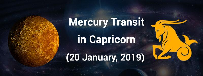 Mercury Transit in Capricorn - January 20, 2019