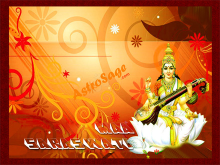Free Wallpapers of Saraswati