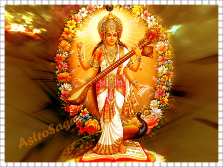 Free Wallpapers of Goddess Saraswati